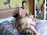 Sextape d'une mature blonde nympho