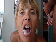 Une mamie française qui aime le sperme